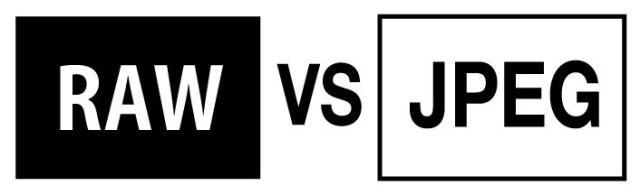 الفرق بين ملفات راو raw و jpeg